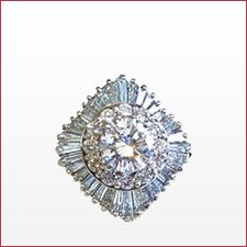 ダイヤモンドリング F VVS2 GOOD 2.52ct/メレ2.11ct