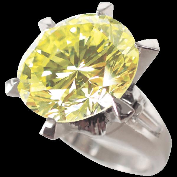 ダイヤモンドリングファンシーライト イエロー11.3ct