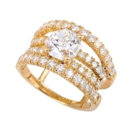 メレダイヤ付き ダイヤモンドリング