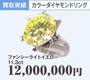 カラーダイヤモンドリング ファンシーライトイエロー11.3ct