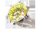 カラーダイヤモンドリング ファンシーライトイエロー 11.3ct