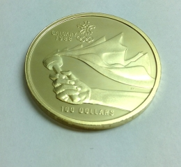 カルガリーオリンピック<br>100ドル金貨