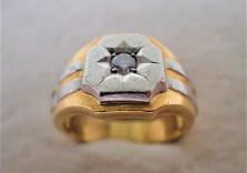 ダイヤ付き金の指輪