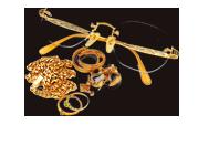 祖母から貰った金縁メガネやアクセサリー