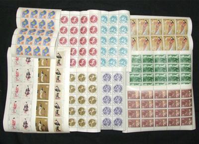 遺品整理ででてきた大量の切手シート