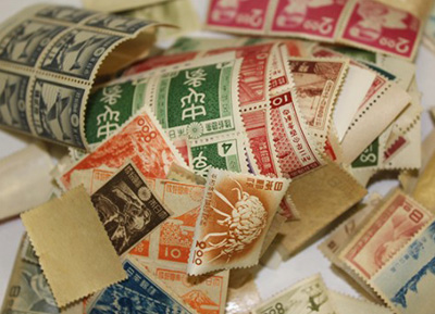 プレミア切手がまざっていた<br /> 古いバラ切手